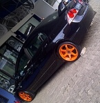 civic TE37 SL orange